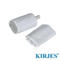 Stoff-Polierhülsen für Kirjes Schleifwalze Ø20 mm (2 Stück)