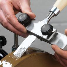 Straight edge sharpening jig