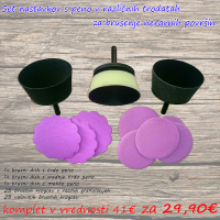 Promo foam bowl sander set